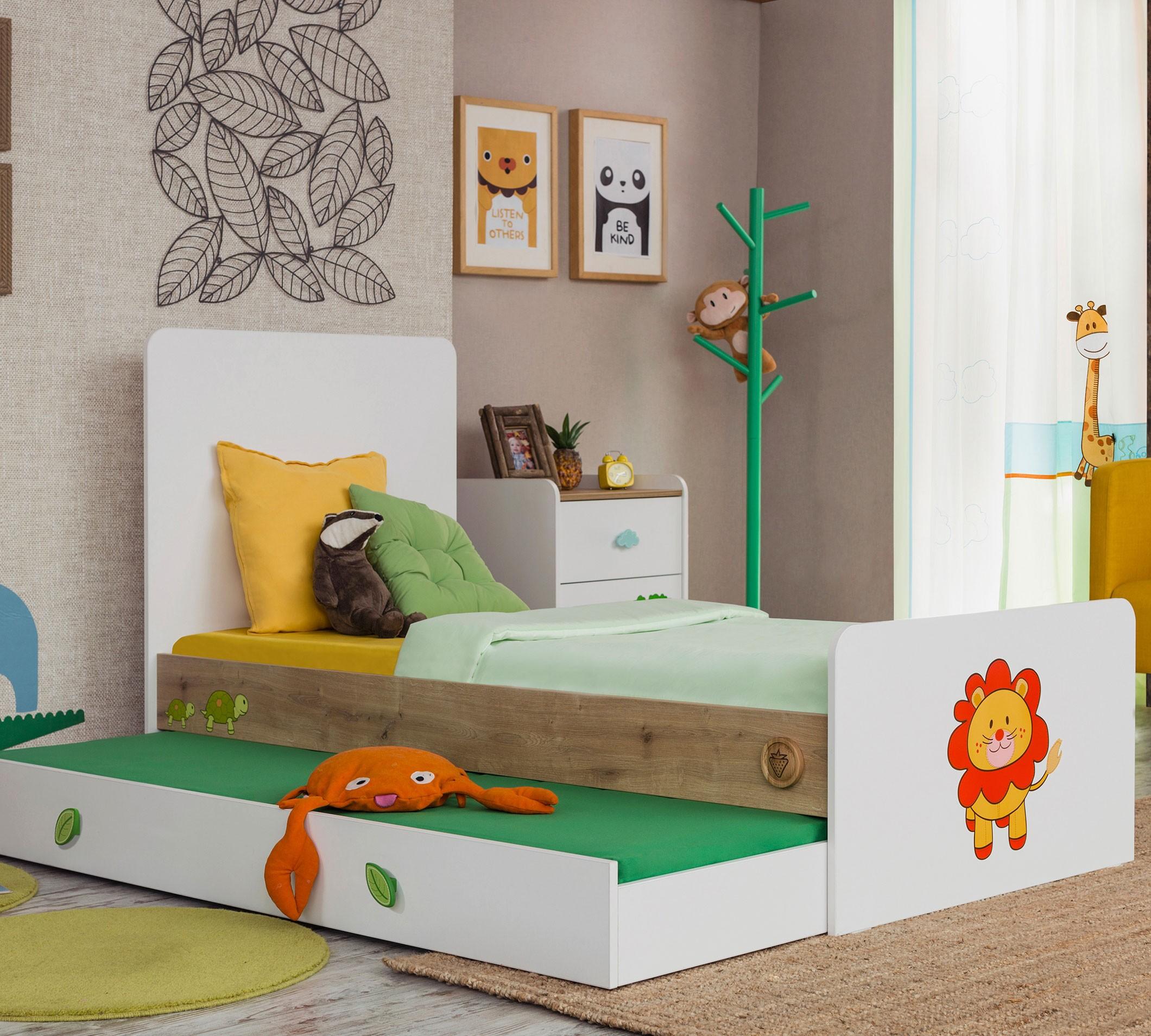 Safari Natura Sl Convertible Baby Bed With Parent Bed 80x180 Cm