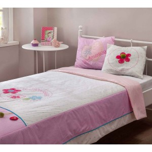 Flora Xl Bed Cover (Pink)