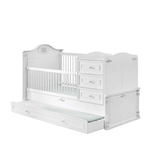 Romantic Convertible Baby Bed (With Parent Bed) (80x180 Cm)