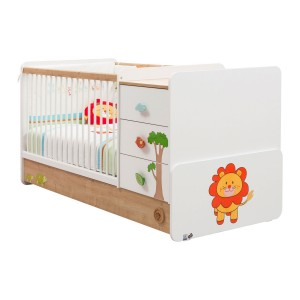 Safari Natura Convertible Baby Bed (75x114 Cm - 75x160 Cm)