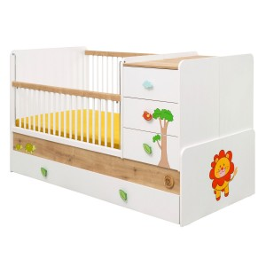 Safari Natura Sl Convertible Baby Bed (With Parent Bed) (80x180 Cm)