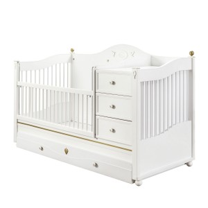 Softy Sl Convertible Baby Bed (With Parent Bed) (80x180 Cm)